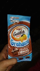 goldfish grahams fudge brownie