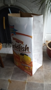 painted goldfish bag